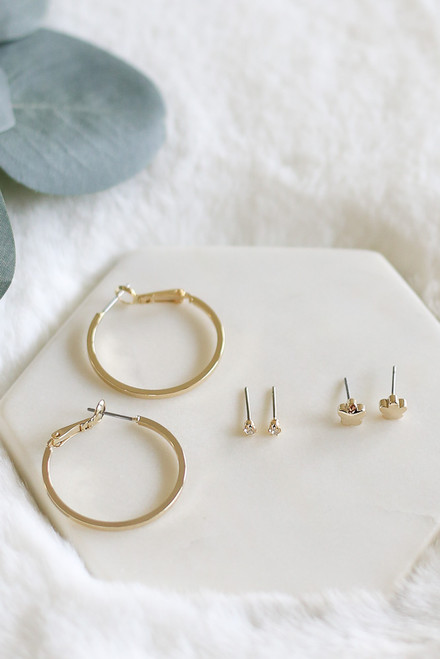 Gold - Earring Set from Dress Up Boutique