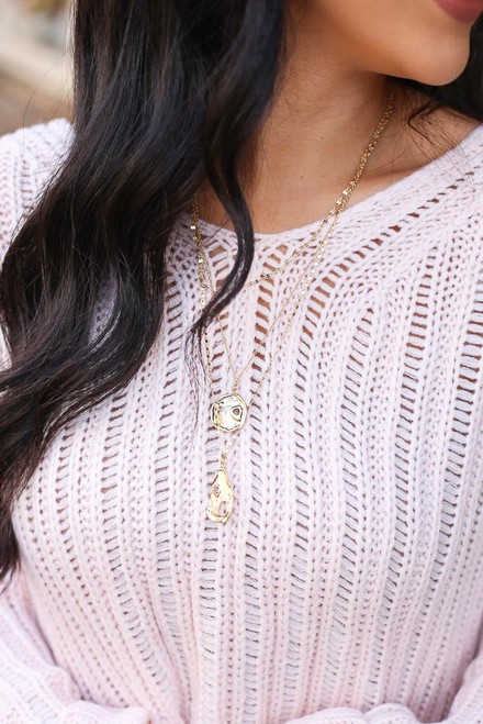 Gold - Layered Pendant Necklace