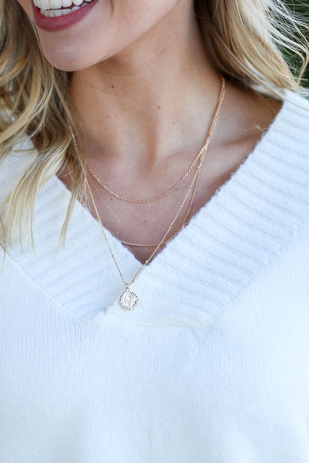 Gold - Layered Pendant Necklace from Dress Up