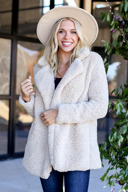 Ivory - Sherpa Teddy Jacket from Dress Up Boutique