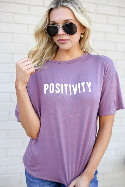 Lilac - Positivity Graphic Tee from Dress Up