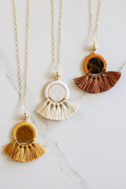Mustard - Statement Tassel Necklace in all three colors