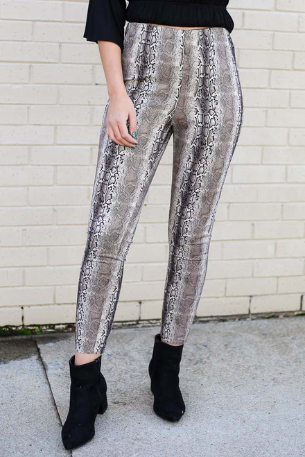 Snake - Snakeskin Microsuede Pants from Dress Up