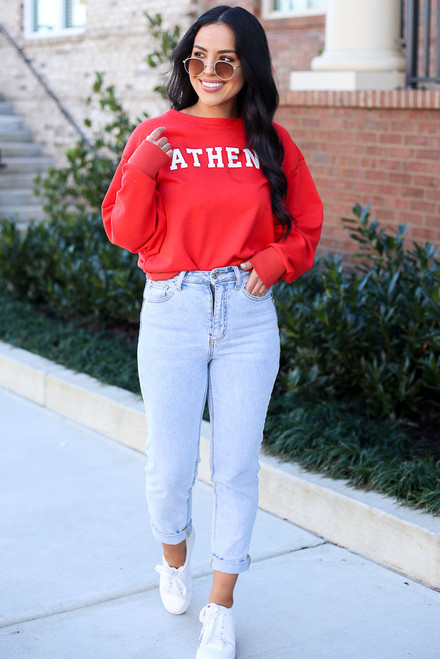 Red - Athens Pullover from Dress Up