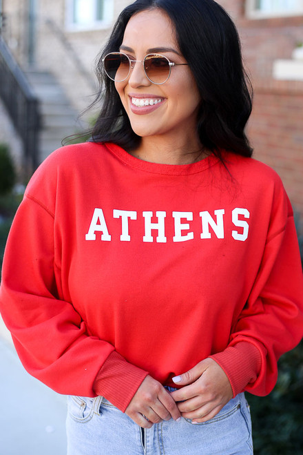 Red - Athens Pullover