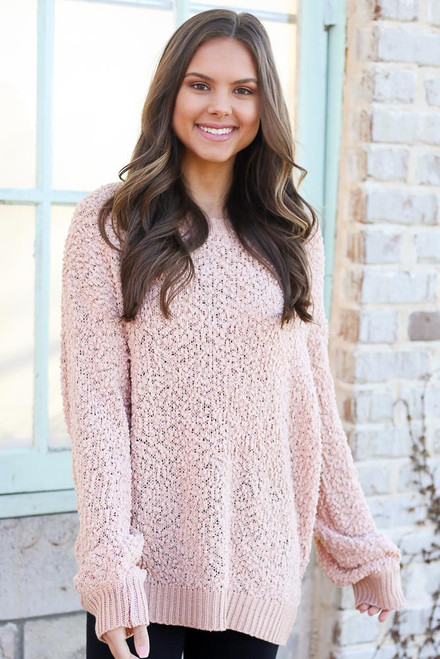 Blush - Popcorn Knit Oversized Top from Dress Up