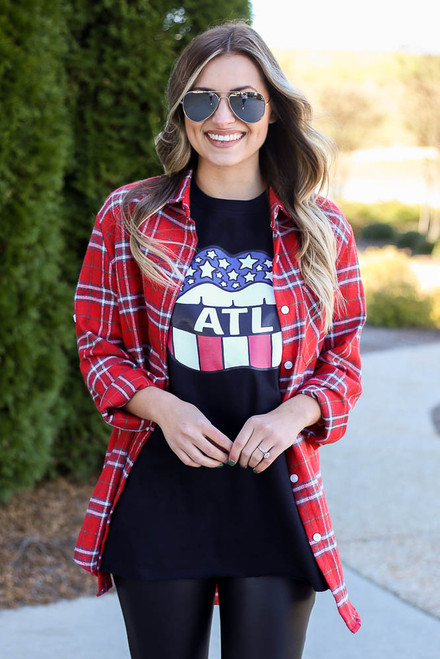 Black - Atlanta Graphic Tee from Dress Up