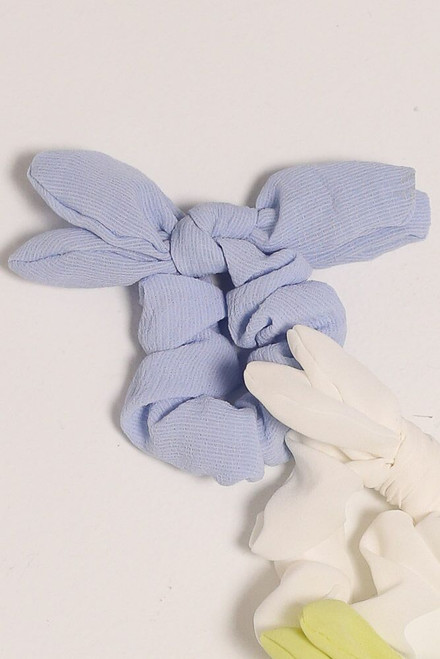 Light Blue - Flat Lay of the Tie Scrunchie from Dress Up