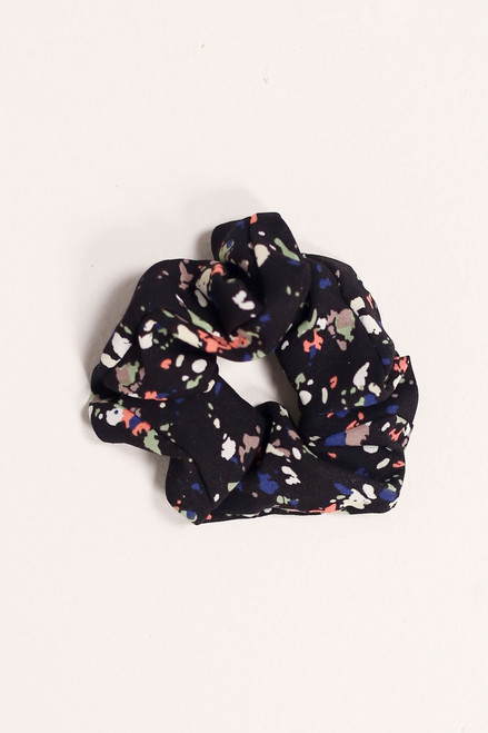 Black - Speckled Black Scrunchie