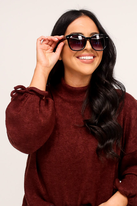 Black - Horn Rimmed Sunglasses from Dress Up