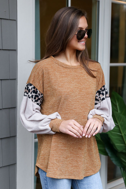 Mustard - Statement Sleeve Knit Top from Dress Up