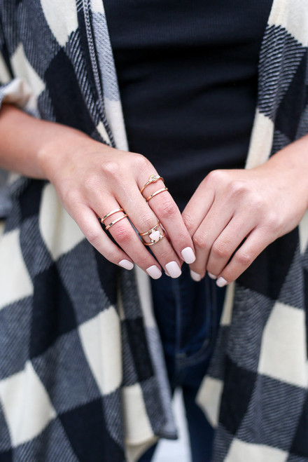 Gold - Assorted Ring Set from Dress Up