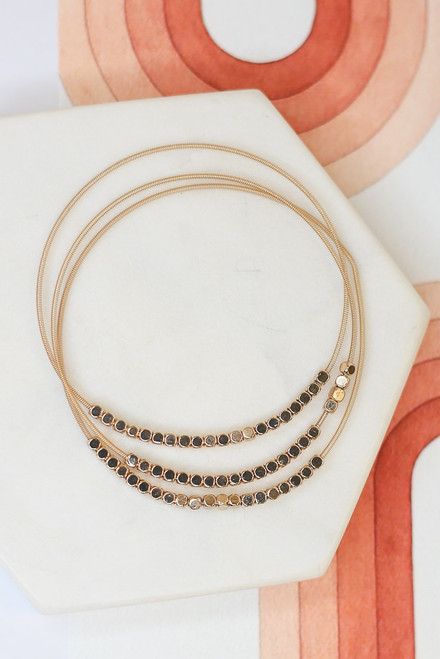 Gold - Beaded Bangle Set from Dress Up