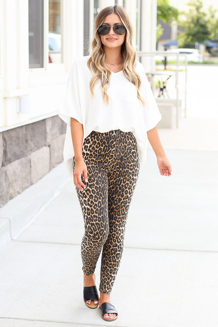 Leopard - High-Rise Leopard Skinny Jeans