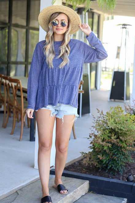 Denim - Tiered Babydoll Top from Dress Up