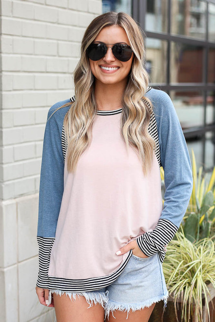 Teal - Color Block Top from Dress Up