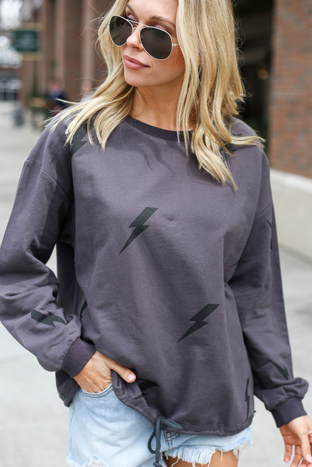 Charcoal - Lightning Bolt Pullover from Dress Up