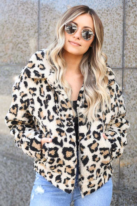Leopard - Sherpa Jacket from Dress Up