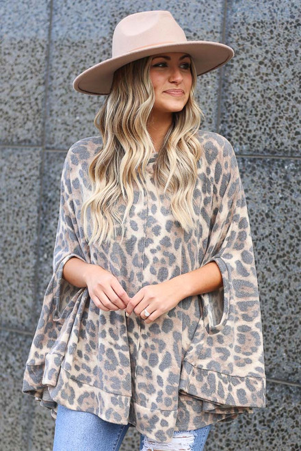 Leopard - Fleece Poncho