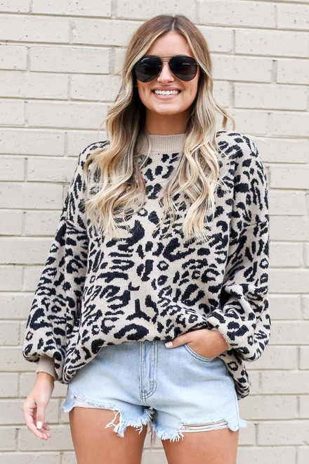 Black - Leopard Luxe Knit Top from Dress Up