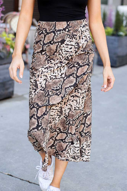 Snake - Close Up of the Snakeskin Midi Skirt