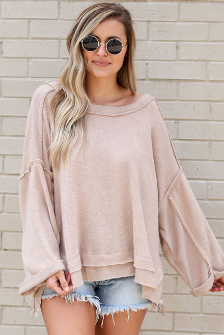 Taupe - Luxe Cloud Sweater from shopdressup