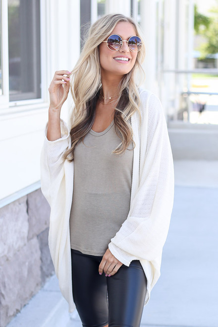 Ivory - Lightweight Knit Cardigan from Dress Up