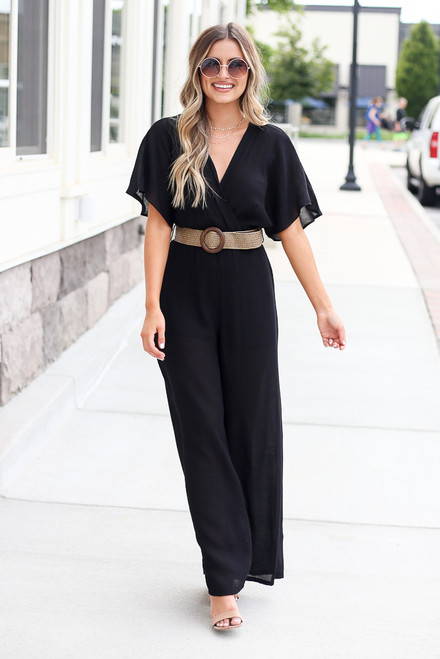 Black - Belted Jumpsuit from Dress Up