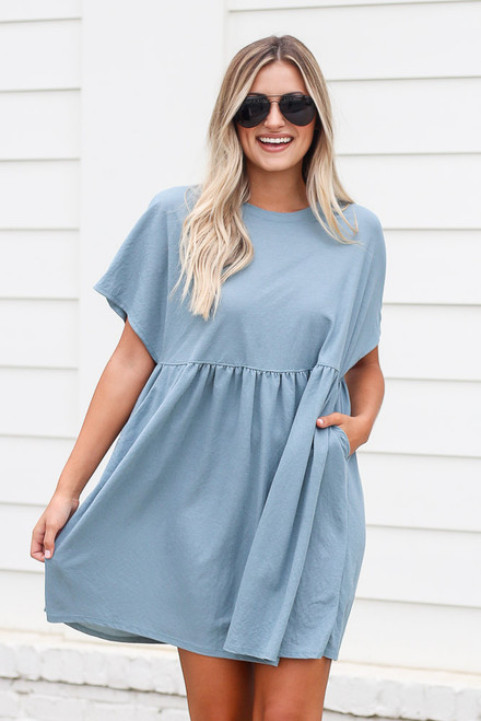 Blue - shop babydoll dresses at dress up
