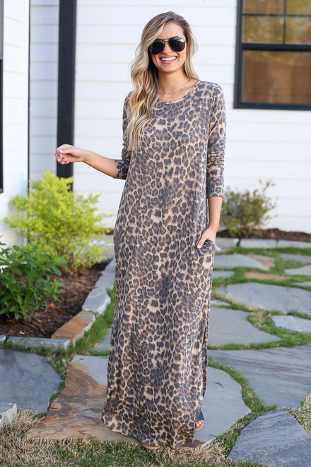 Leopard - shop cute maxi dresses at dress up