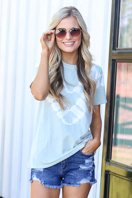 Mint - cute tie-dye tee at dress up