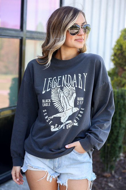 Charcoal - legendary graphic pullover