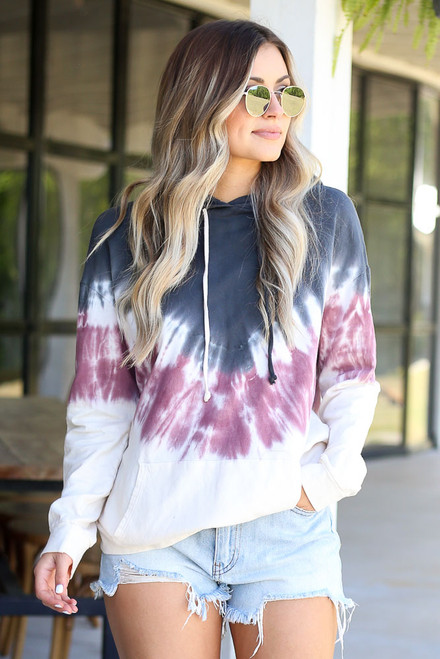 Charcoal - cute tie-dye hoodie at dress up