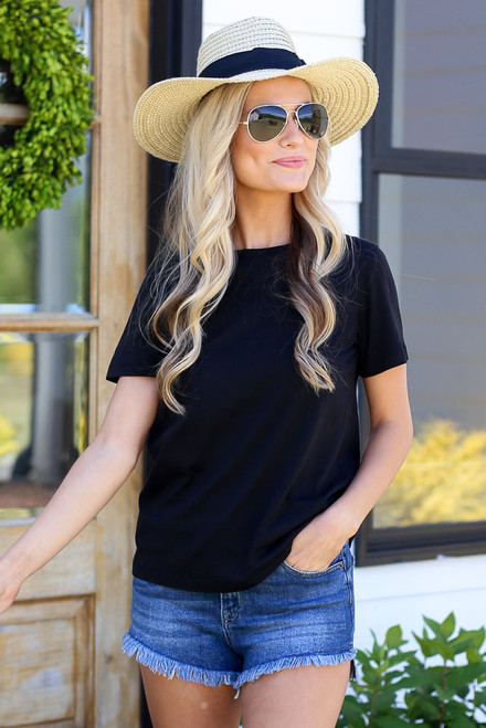 Black - Basic Tee from Dress Up
