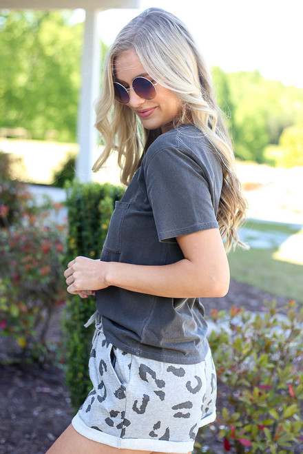 Charcoal - cute oversized tee