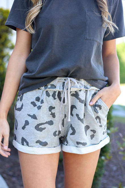 Heather Grey - cute lounge shorts