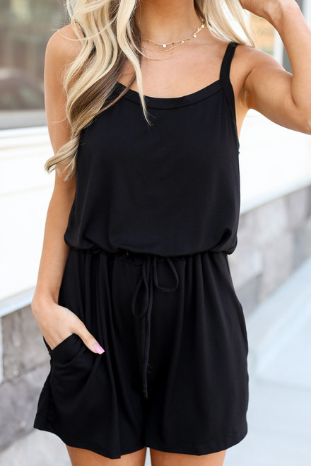 Black - close up cute rompers at dress up