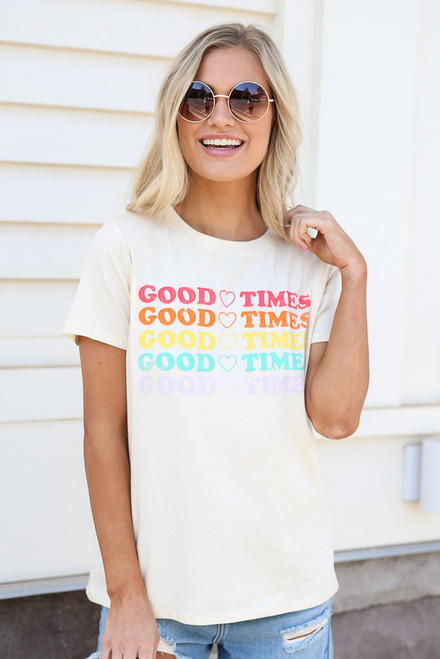 Natural - good times graphic tee