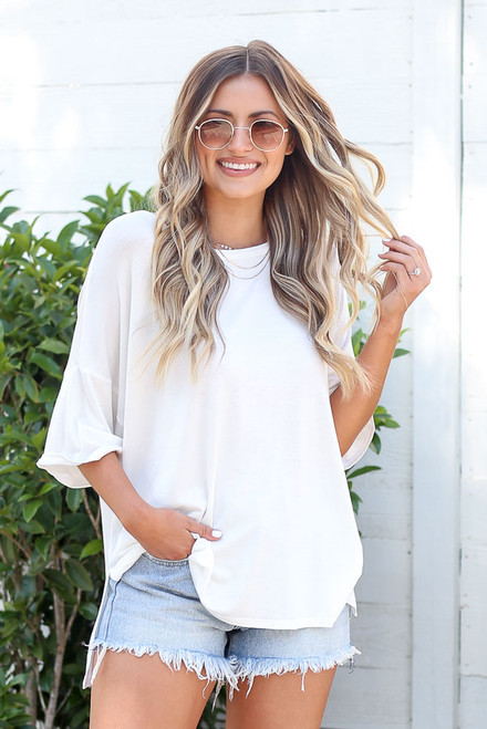 White - oversized t-shirt