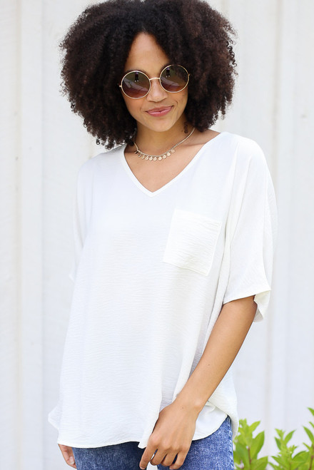 White - Oversized Blouse