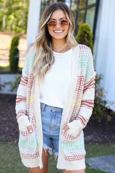 Multi - cute oversized cardigan