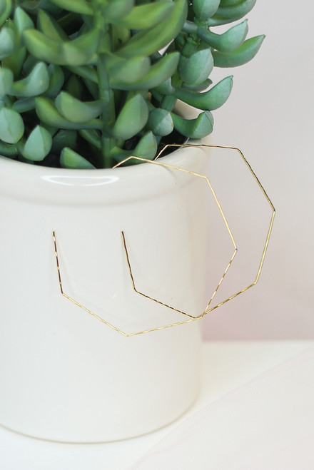 Gold - cute hoop earrings