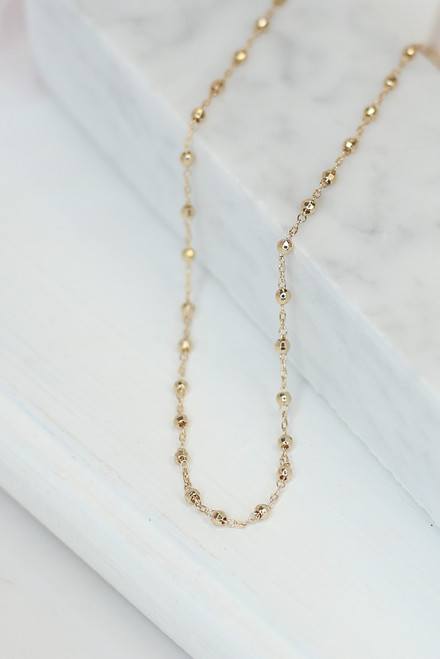 Gold - beaded necklace at dress up