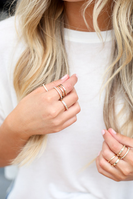 Gold - cute ring set at dress up