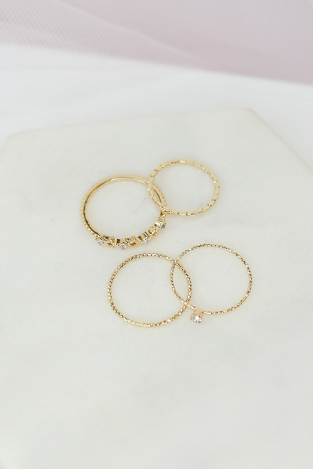Gold - ring set at dress up