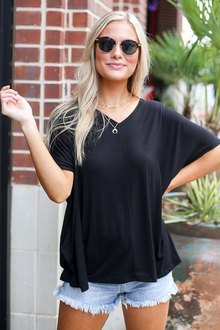 Black - Ultra Soft V-Neck Tee
