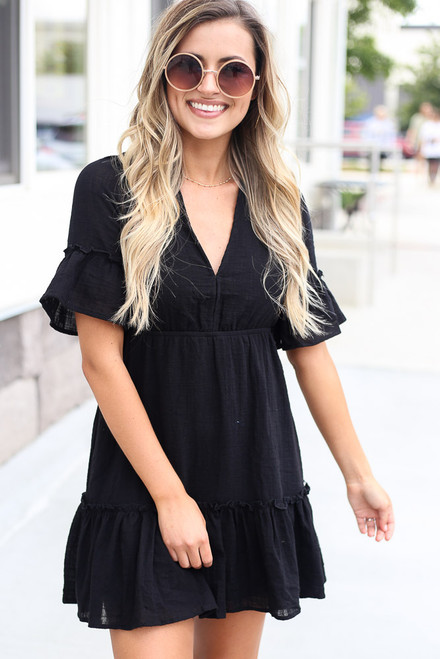 Black - shop cute babydoll dresses at dress up