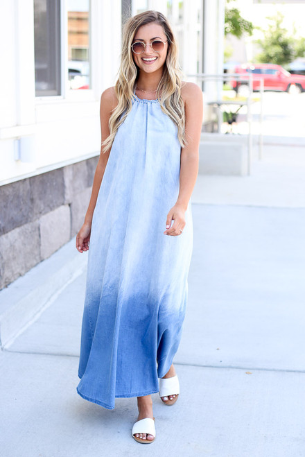 Denim - cute maxi dresses at dress up, an online dress boutique