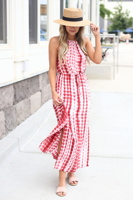Rust - cute maxi dress at shopdressup.com