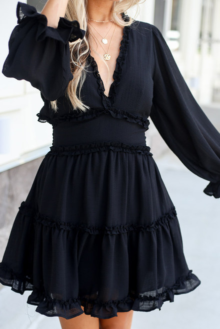 Black - shop cute tiered babydoll dresses at dress up